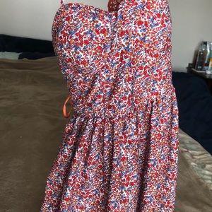 American Rag Floral print /lace detail mini dress